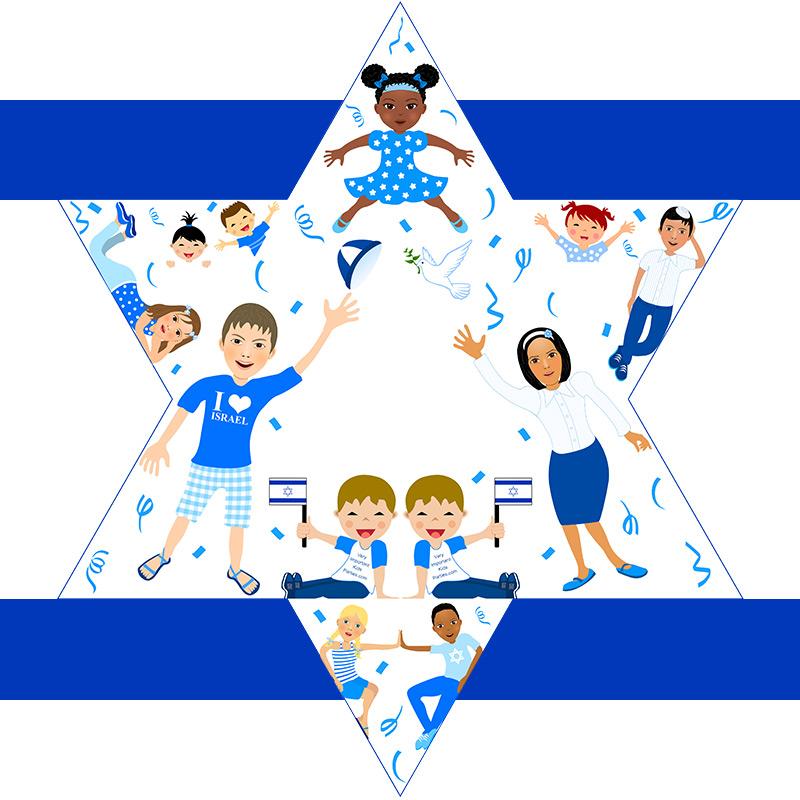 מגן דוד ליום העצמאות
