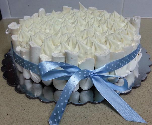 עוגת קונקורד שוקולד לבן - כשרה לפסח