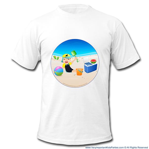 כיף בקיץ - חולצה עם הדפסה - מבלים על חוף הים