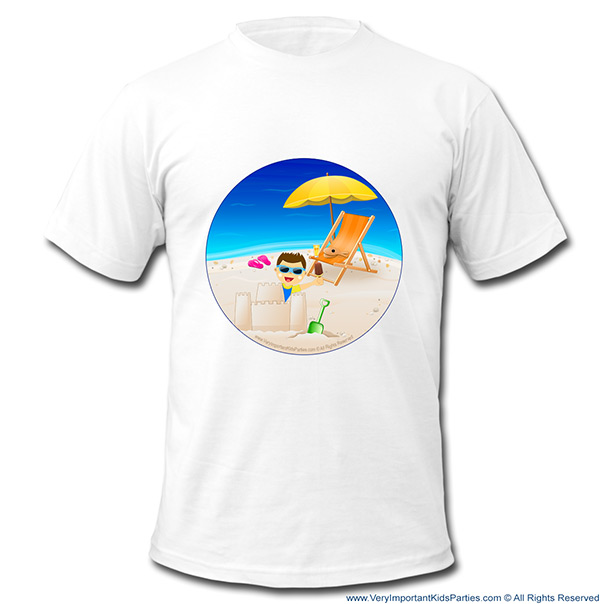 כיף בקיץ - חולצה עם הדפסה - בונים ארמון בחול