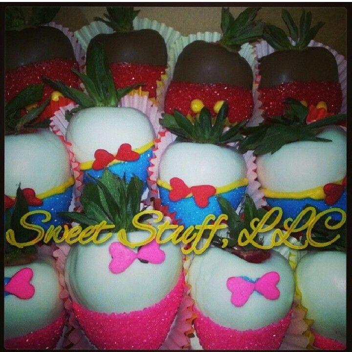 תותים מצופים שוקולד או מרציפן