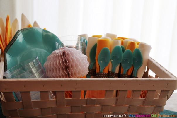 מסיבת הקיץ שלי - עיצוב בצבעים קרים