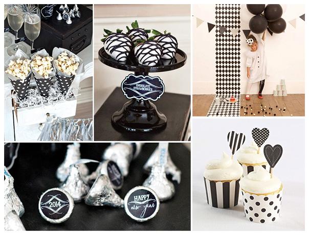 עיצוב שולחן בשחור ולבן - קירקס וינטאג