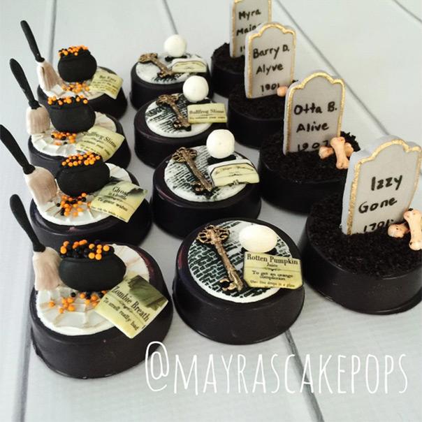 עוגיות אוריאו מצופות מעוצבות להלוואין