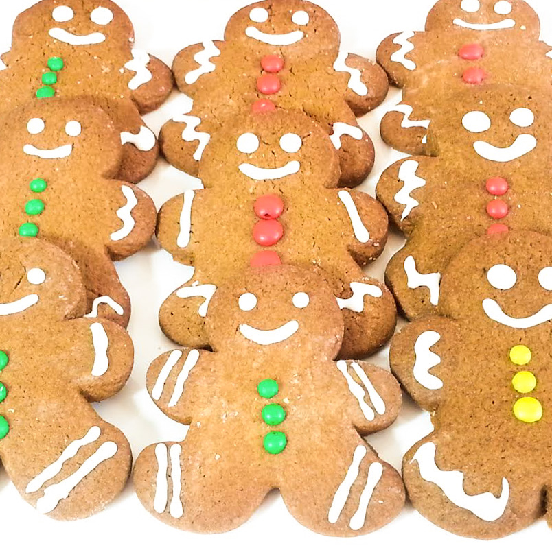 Merry & Bright Gingerbread man cookies