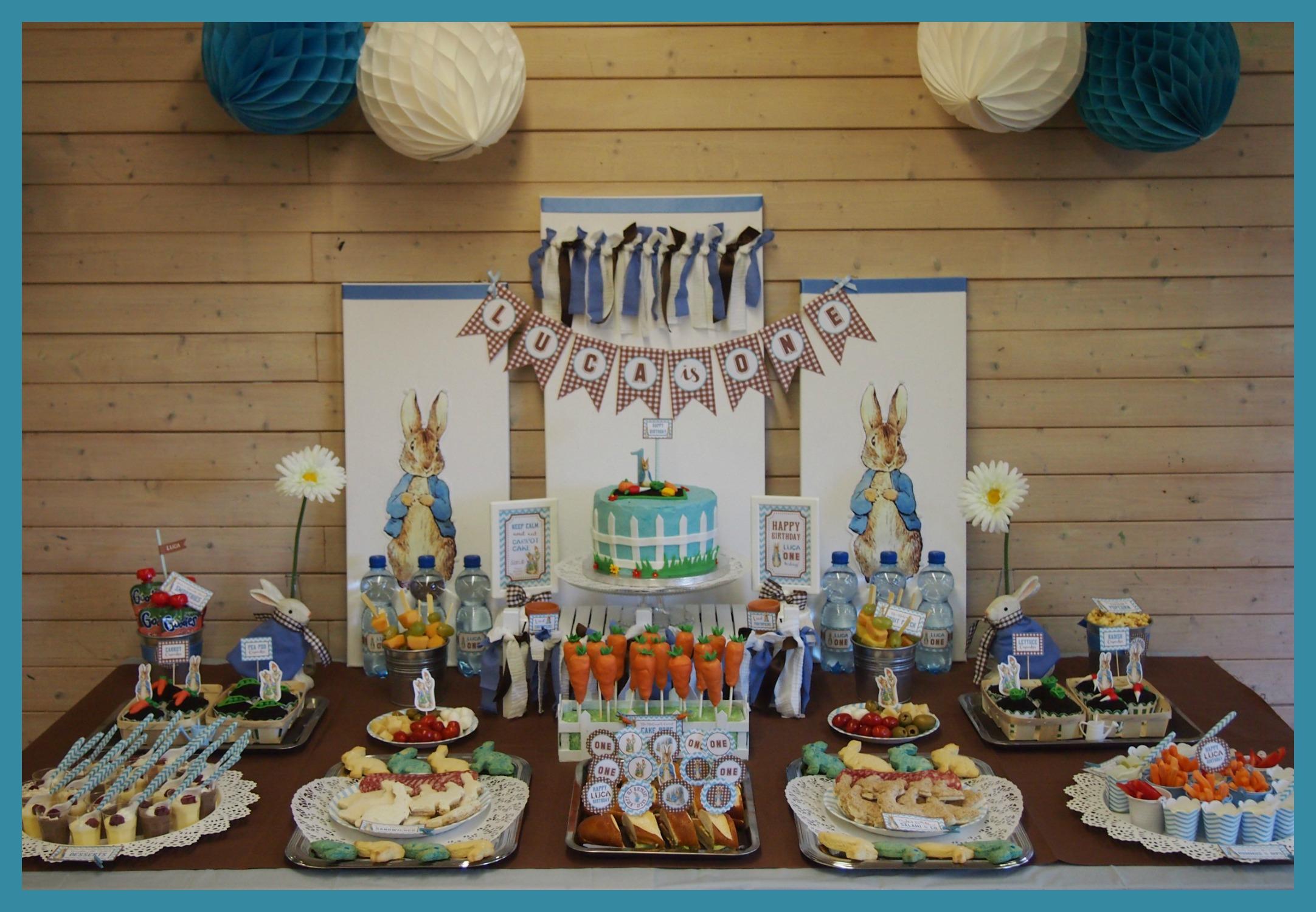 מסיבה מעוצבת בהשראת פיטר הארנב וחבריו