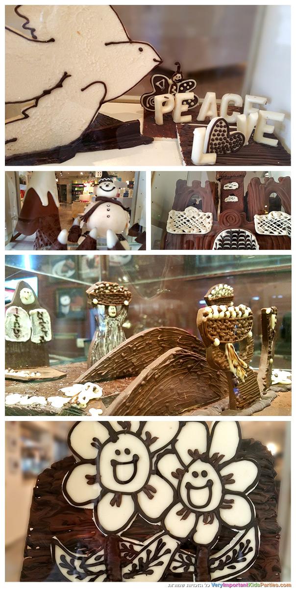פסלי שוקולד בדה - קרינה