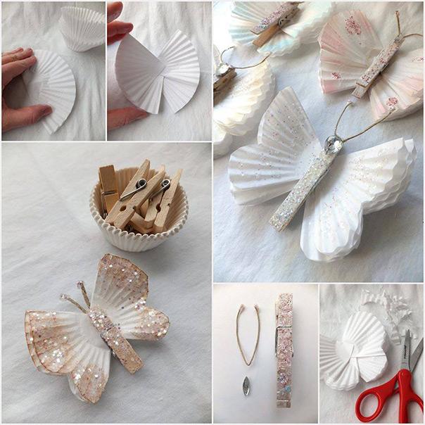 עטרות נייר- פרפרים