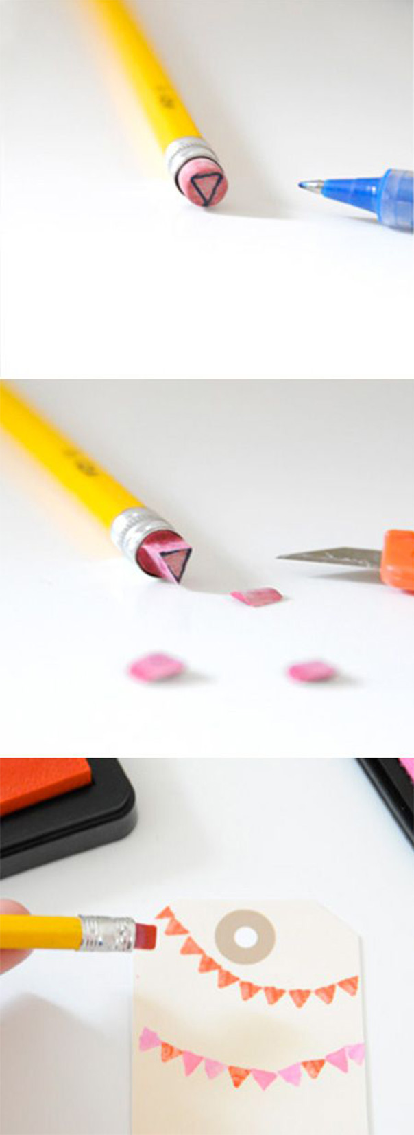חותמות ממחקים של עפרונות