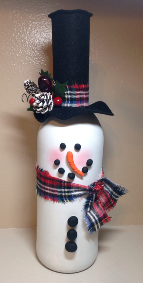 רוצה לבנות איש שלג מבקבוק יין?