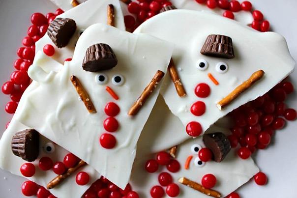 רוצה לבנות איש שלג? - ממתק שוקולד