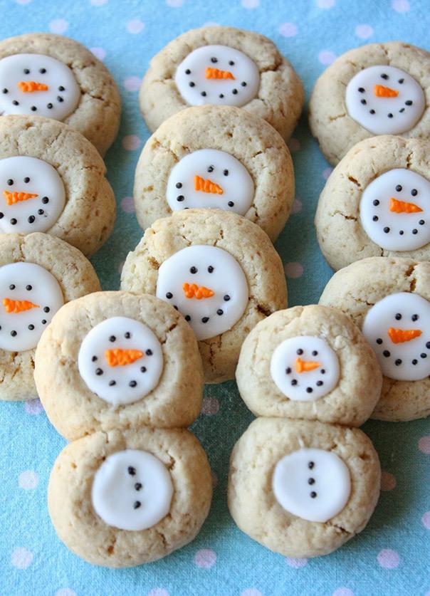 רוצה לבנות איש שלג? - עוגיות