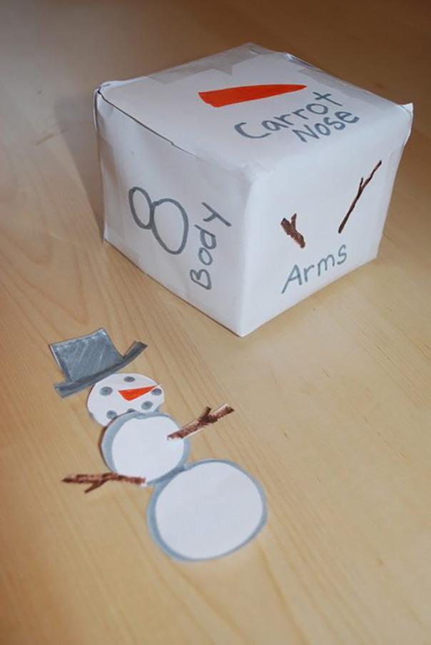 רוצה לבנות איש שלג? - קוביית משחק