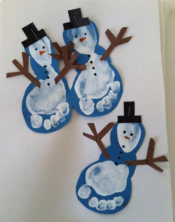 רוצה לבנות איש שלג? - הטבעת כפות רגליים
