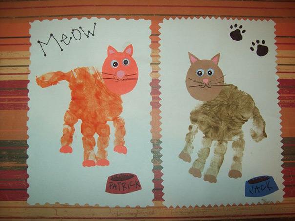 חתול מטביעות ידיים
