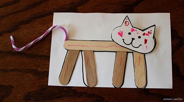 יום החתול - תמונה ממקלות ארטיקים