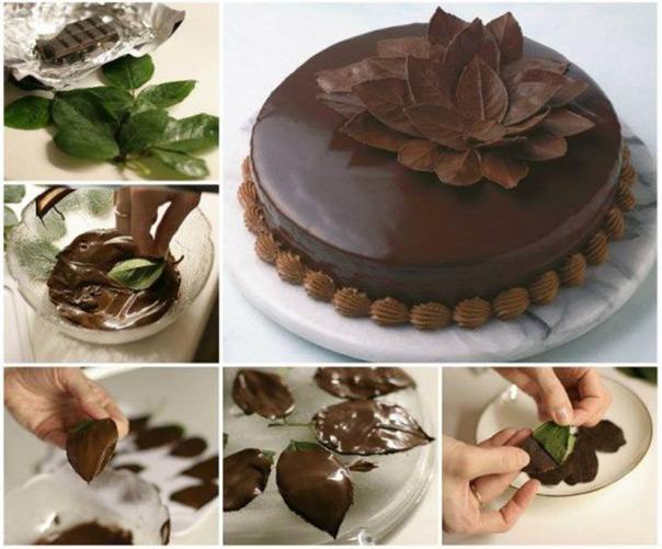 משחקים עם שוקולד - עלים