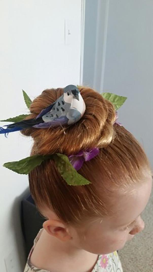 תסרוקות משוגעות - קן לציפור