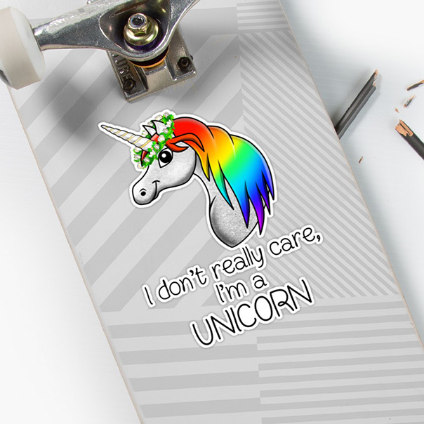I Don't Really Care, I'm a Unicorn - sticker