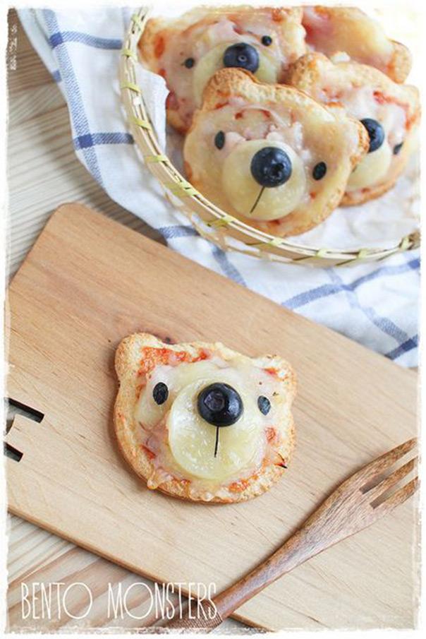 מאכלים מחופשים - פיצה בצורת דוב