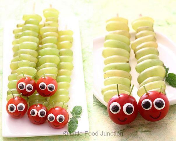 הזחל הרעב - שיפודי פירות